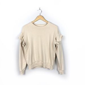 Aerie Long Sleeve Crewneck with Ruffle Detail